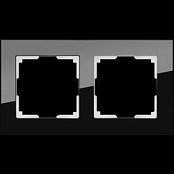 Рамка на 2 поста (черный) WL01-Frame-02