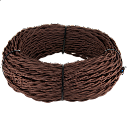 Ретро кабель витой 3х2,5 (коричневый) Ретро кабель витой 3х2,5 (коричневый)