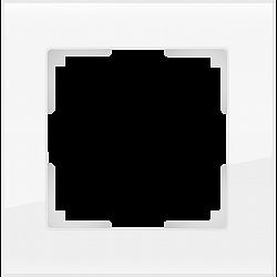 Рамка на 1 пост (белый,стекло) WL01-Frame-01