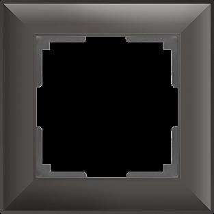 Рамка на 1 пост (серо-коричневый) WL14-Frame-01