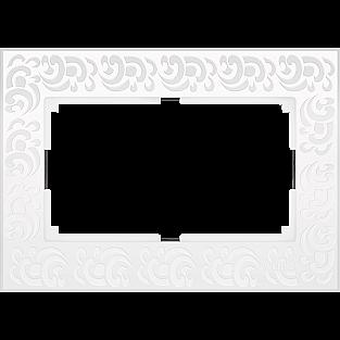 Рамка для двойной розетки (белый) WL05-Frame-01-DBL-white