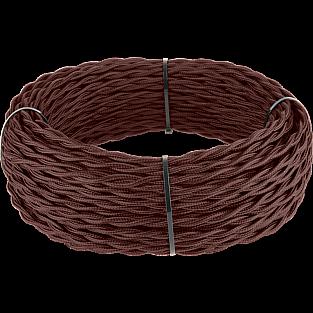 Ретро кабель витой 2х1,5 (итальянский орех) Ретро кабель витой 2х1,5 (итальянский орех)
