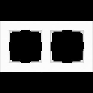 Рамка на 2 поста (белый матовый) WL01-Frame-02