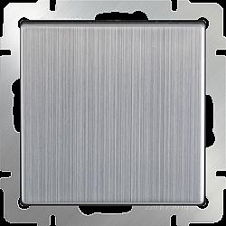 Выключатель одноклавишный проходной (глянцевый никель) WL02-SW-1G-2W