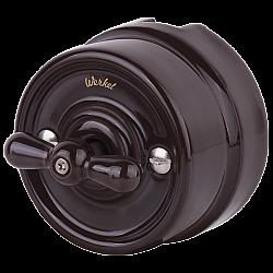 Переключатель одноклавишный (коричневый) Ретро WL18-01-03
