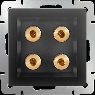 Акустическая розетка (черный матовый) WL08-AUDIOx4