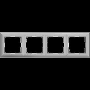 Рамка на 4 поста (серебряный) WL14-Frame-04