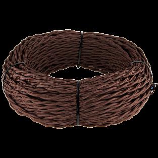 Ретро кабель витой 2х1,5 (коричневый) Ретро кабель витой 2х1,5 (коричневый)