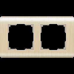 Рамка на 2 поста (шампань) WL12-Frame-02