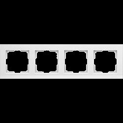 Рамка на 4 поста (белый) WL04-Frame-04-white