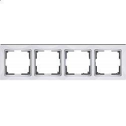 Рамка на 4 поста (белый) WL03-Frame-04-white