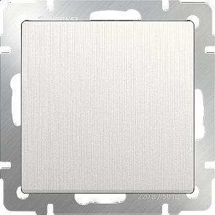 Выключатель одноклавишный проходной (перламутровый рифленый) WL13-SW-1G-2W