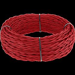 Ретро кабель витой 3х1,5 (красный) Ретро кабель витой 3х1,5 (красный)