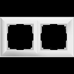 Рамка на 2 поста (белый) WL14-Frame-02