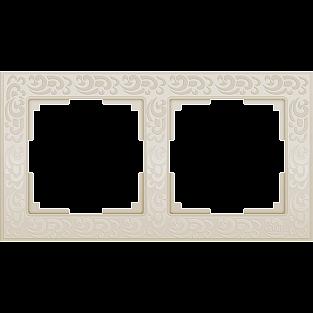 Рамка на 2 поста (слоновая кость) WL05-Frame-02-ivory
