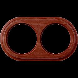 Рамка на 2 поста (итальянский орех) WL15-frame-02