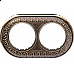 Рамка на 2 поста (бронза) WL70-frame-02