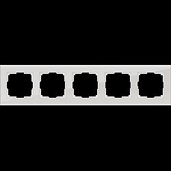 Рамка на 5 постов (дымчатый,стекло) WL01-Frame-05