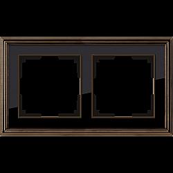 Рамка на 2 поста (бронза/черный) WL17-Frame-02