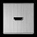 Накладка для розетки HDMI (глянцевый никель) WL02-HDMI-CP