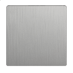 Клавиша для выключателя перекрестного (серебряный рифленый) WL09-SW-1G-C-CP