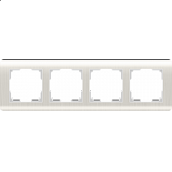 Рамка на 4 поста (перламутровый) WL12-Frame-04