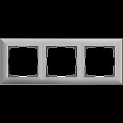 Рамка на 3 поста (серебряный) WL14-Frame-03