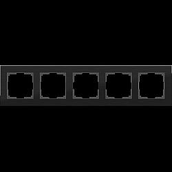 Рамка на 5 постов (черный алюминий) WL11-Frame-05