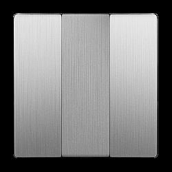 Набор клавиш для выключателя трехклавишного (cеребряный рифленый) WL09-SW-3G-CP