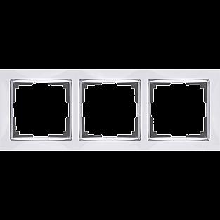 Рамка на 3 поста (белый) WL03-Frame-03-white