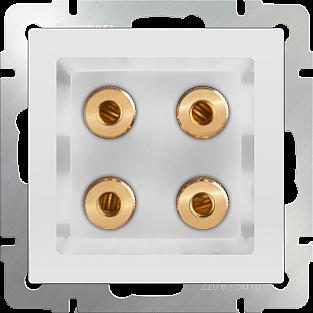 Акустическая розетка (белый) WL01-AUDIOx4