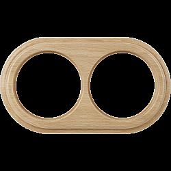 Рамка на 2 поста (светлый бук) WL15-frame-02