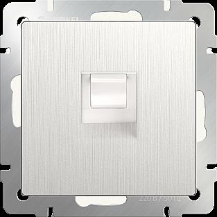 Розетка Ethernet RJ-45 (перламутровый рифленый) WL13-RJ-45