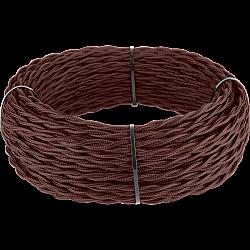 Ретро кабель витой 3х1,5 (итальянский орех) Ретро кабель витой 3х1,5 (итальянский орех)