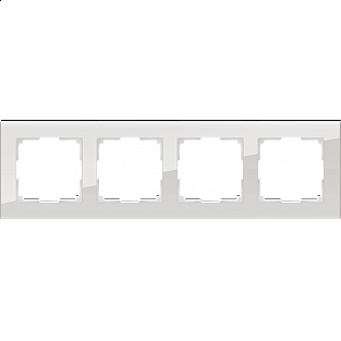 Рамка на 4 поста (дымчатый,стекло) WL01-Frame-04