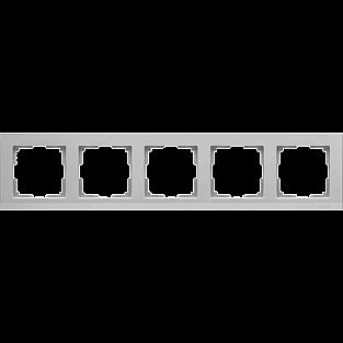 Рамка на 5 постов (серебряный) WL04-Frame-05