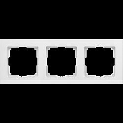 Рамка на 3 поста (белый) WL04-Frame-03-white