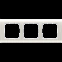 Рамка на 3 поста (перламутровый) WL12-Frame-03
