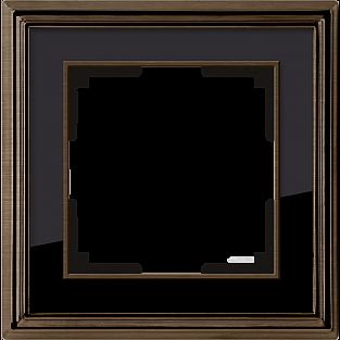 Рамка на 1 пост (бронза/черный) WL17-Frame-01