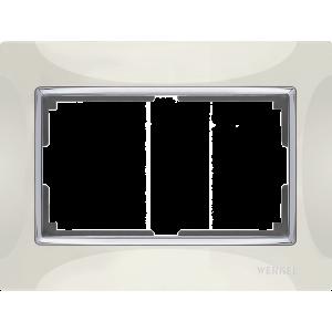 Рамка для двойной розетки (слоновая кость) WL03-Frame-01-DBL-ivory