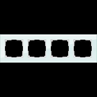 Рамка на 4 поста (натуральное стекло) WL01-Frame-04