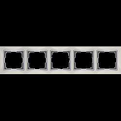 Рамка на 5 постов (слоновая кость) WL03-Frame-05-ivory