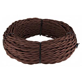 Ретро кабель витой 3х1,5 (коричневый) Ретро кабель витой 3х1,5 (коричневый)