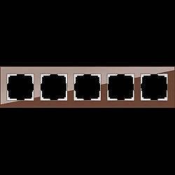 Рамка на 5 постов (мокко) WL01-Frame-05