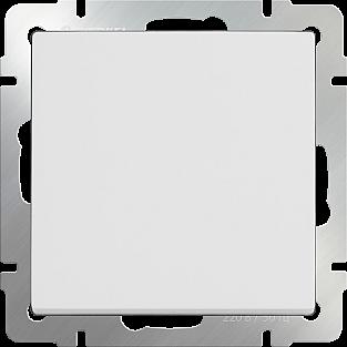 Выключатель одноклавишный (белый) WL01-SW-1G