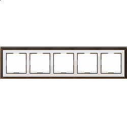 Рамка на 5 постов (бронза/белый) WL17-Frame-05