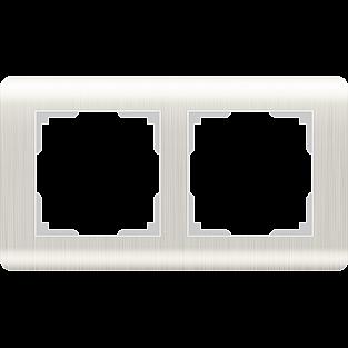 Рамка на 2 поста (перламутровый) WL12-Frame-02