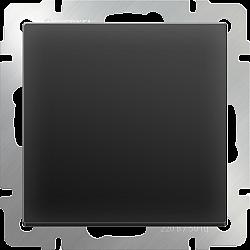 Выключатель одноклавишный проходной (черный матовый) WL08-SW-1G-2W