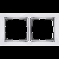 Рамка на 2 поста (белый) WL03-Frame-02-white