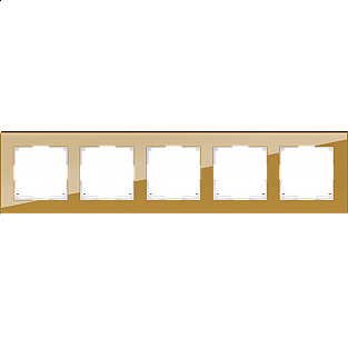 Рамка на 5 постов (бронзовый) WL01-Frame-05